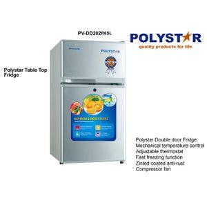 Polystar Double Door Refrigerator PV-DD202R6SL 80litre