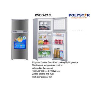 Polystar Double Door Refrigerator PV-DD215L
