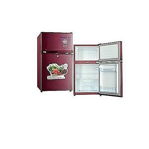 Polystar Red Color Double Door Refrigerator Pv-dd203lr
