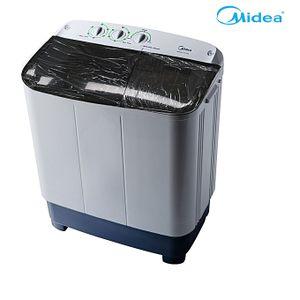 Midea Semi Automatic Twin Tub Washing Machine- Wash & Spin Function
