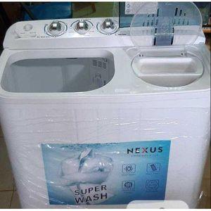 Nexus LargeTwinTub Semi-Automatic Washing Machine(Wash/Spin/Drain)