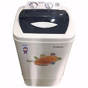 Polystar 5.7kg Twin Tub Washing Machine PV-WD5.7K + FREE IRON