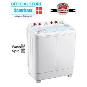 Scanfrost 6KG Twin Tub Semi-Automatic Washing Machine - White