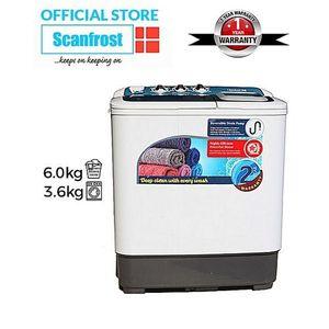 Scanfrost 6kg -Twin Tub Semi-Automatic Washing Machine