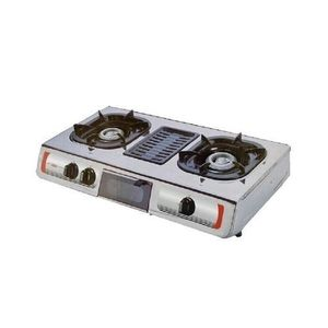 AKAI Double Hob Gas Cooker With Grill
