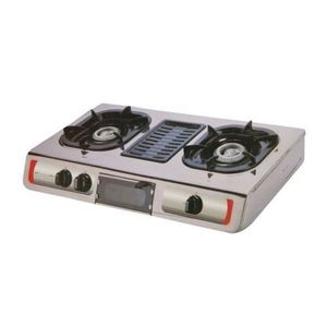AKAI Double Burner Gas Cooker With Grill