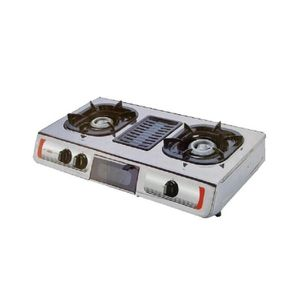 AKAI 2 Burner Table Gas Cooker With Grill