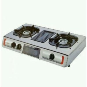 AKAI Double Burner Table Top Gas Cooker With Grill