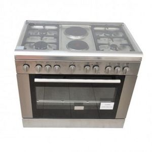 Bruhm GAS And ELECTRIC COOKER - (4G+2E) - Inox