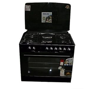 Bruhm Gas Cooker - 3 Gas + 1 Electric With Grill Oven 60 By 60