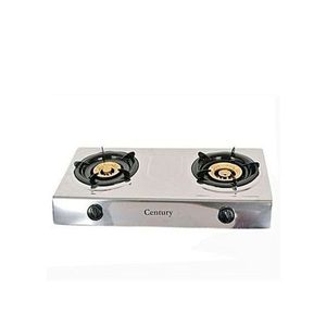 Century Stainless Steel Auto Ignition Table Top Gas Stove. Double Burner