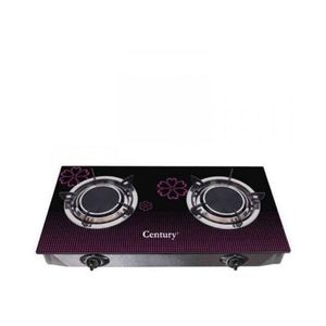 Century Table Top Glass Top Gas Cooker-2 Burner - Auto Ignition