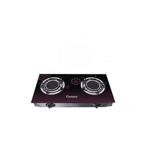 Century Thick Table Top Glass Gas Cooker With 2Hobs