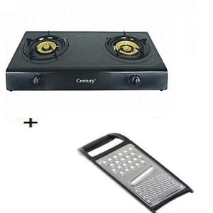 Century Stainless Steel Tabletop Gas Cooker + Free Kitchen Grater (Multi Colour)