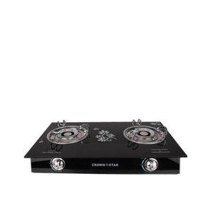 Crown Star 2 Burner Glass Base -Table Gas Cooker