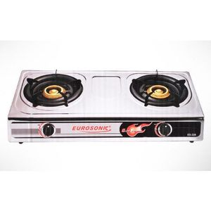 Eurosonic Table Top Gas Stove Cooker Cooktop With 3 Burners ES-308