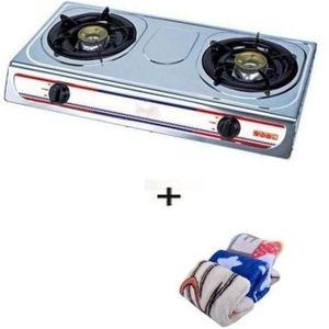 Eurosonic 2 Burner Stainless Gas Cooker