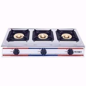 Eurosonic 2 Burner Auto Ignition Table Top Gas Cooker -Black