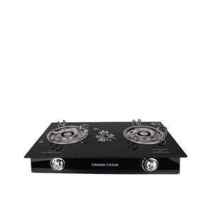 Master Chef Double Burner Glass Base Table Gas Cooker