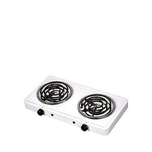 Master Chef Crown Star Double Coil Electric Cooking Stove -    White