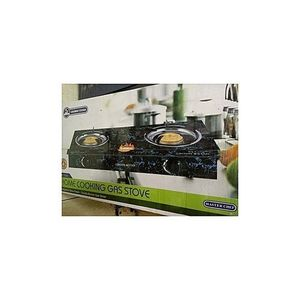 Master Chef Double Burner Glass Top Table Gas Cooker