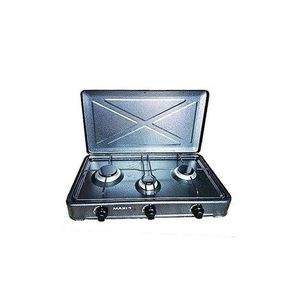 Maxi 4-Burner (3 Gas + 1 Electric) Manual Ignition Table Top Cooker