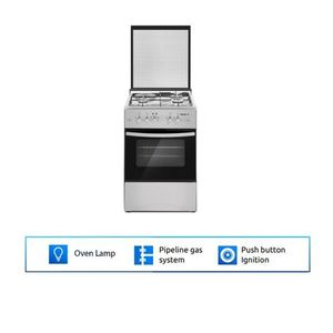 Maxi Standing Gas With Oven INOX (3-Gas And 1-Electric Hot Plate)
