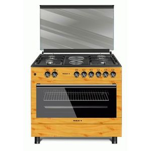 Maxi 60*90 4 Gas + 2 Electric Ignition Wooden Style Gas Cooker