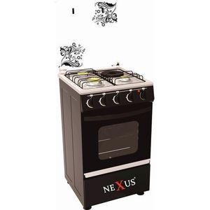 Nexus GAS COOKER BLACK - GCCR-NX-5055B(3+1)
