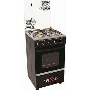 Nexus 4-Burner Gas Cooker GCCR-NX-5055B (3 + 1) - Black