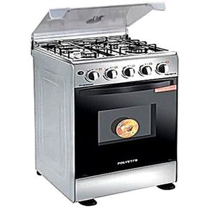 Polystar 4 Burner Oven Grill Gas Cooker - PV-HS50GG4A