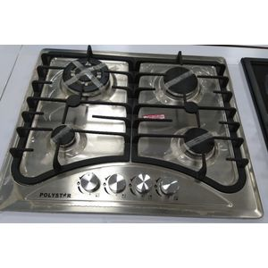 Polystar 4Gas Burners Inbuilt Stainless Steel Cabinet Cooker HOB...