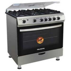 Polystar 4Gas & 1Electric Burner Cooker With Grill & Oven (prepaid Only)