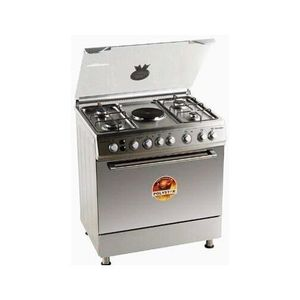 Polystar Gas Cooker 4 Gas + 1 Hot Plate Stainless Pvfs-80g1