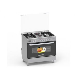 Polystar 4 Gas Burner + 2 Hot Plate With Auto- Ignition