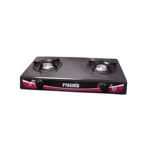 Pyramid Table Top Gas Cooker With 2 Burners + Free 3 In 1 Micro-Fibre Napkin