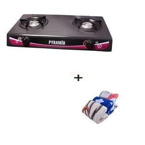 Pyramid Auto Ignition Table Top Gas Cooker With 2 Burners