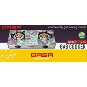 Qasa Glass Top Double Burner Gas Cooker