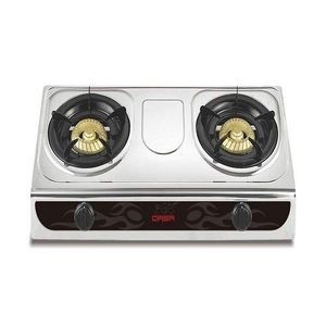 Qasa Table Gas Cooker With Stainless Steel Top