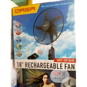 Qasa 18 INCHES RECHARGEABLE STANDING FAN WITH REMOTE CONTROL
