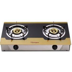 Qasa Glass Table Top Gas Cooker Qgc-2bgkin
