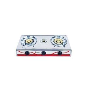 Saisho 3 Burner Gas Cooker + 12.5 Kg Cylinder + Gas Regulator + Gas Hose & Clip