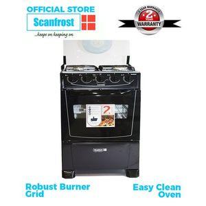 Scanfrost 4-Burner Gas Cooker CK-5400 NG - Black