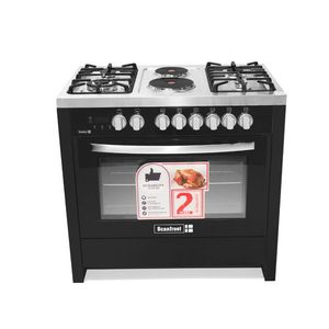 Scanfrost 4 Gas  + 2 Hot Plates,Gas Oven, Grill And Turnspit SFCK 9423