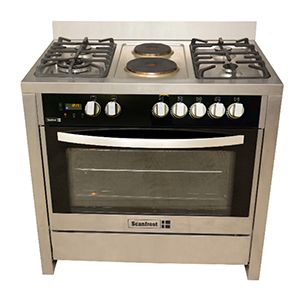 Scanfrost 5 GAS COOKER ,LAMP,GAS-OVEN FULLY STAINLESS STEEL GAS COOKER SFC9423SS