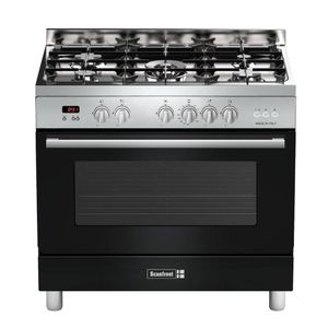 Scanfrost Semi Professional 5 Burner Gas Cooker SFCTPD95 ANTHRA (1 WOK + 4 NORMAL)