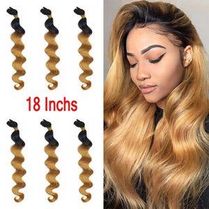Modern Beauty 18' 【6 IN 1】Honey Blonde Brazilian Body Wave Bundles Hair Weave