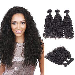 """Brazilian Water Curly  Hair Weave Kinky 20"""" 6bundles"""