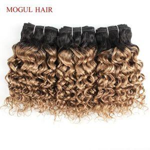 MOGUL HAIR 4 Bundles Honey BlondeOmbre Brazilian Water Wave