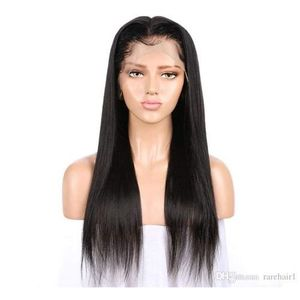 Brazilian Hair Straight Wig With Front Lace Closure